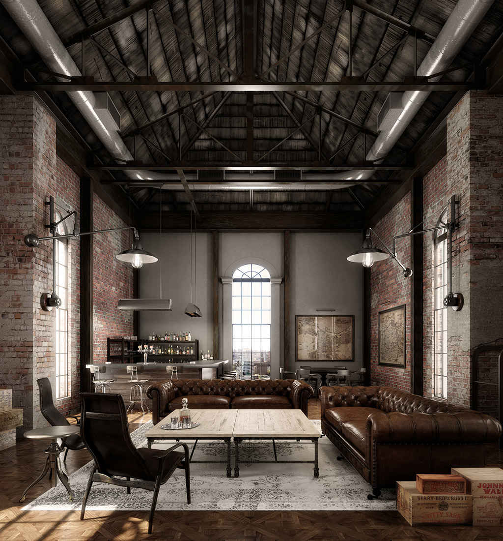 Decoraci n industrial los mejores lofts nomadbubbles for Ufficio rustico