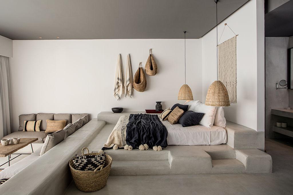 decoracin con cestas de mimbre