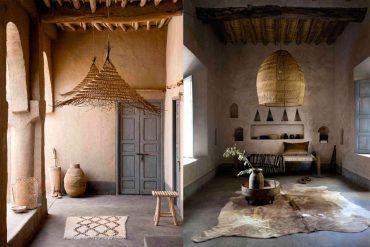 Lamparas de mimbre colgantes en la decoración del hogar