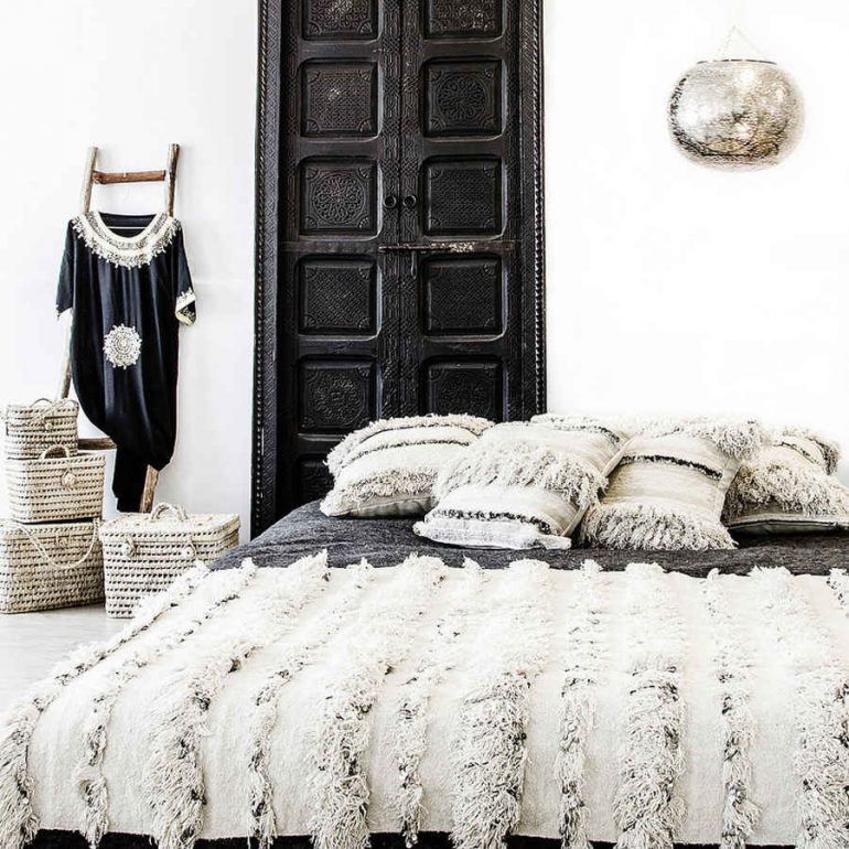 Mantas handira en la decoración del hogar
