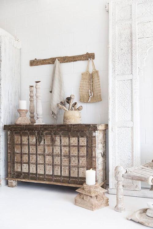 mueble de madera de teca de la India