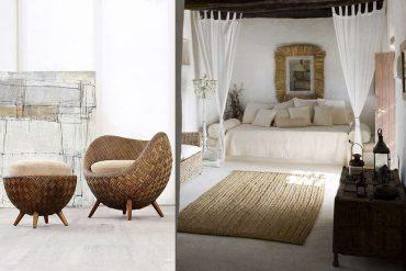 Muebles de mimbre en la decoración de interiores y exteriores