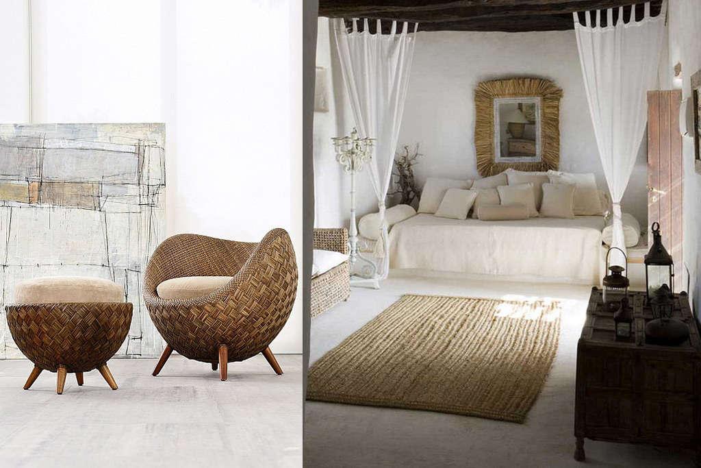 Muebles de mimbre para decorar tu hogar nomadbubbles for Muebles de mimbre pintados