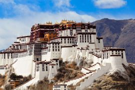 El palacio de Potala en Lhasa, Tibet