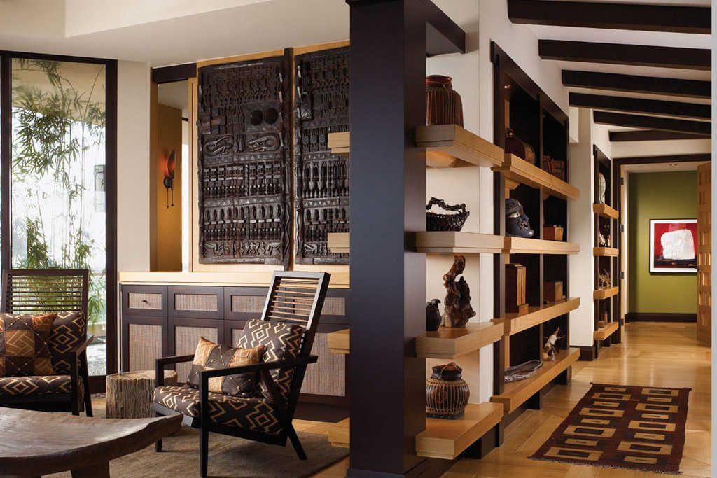 Antiguas puertas africanas en la decoración de interiores