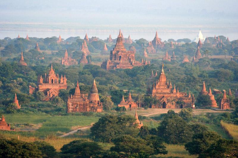 Los templos de Bagan en Myanmar
