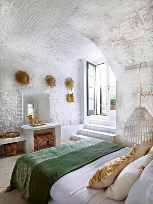 decoración con muebles de mimbre y de rattán