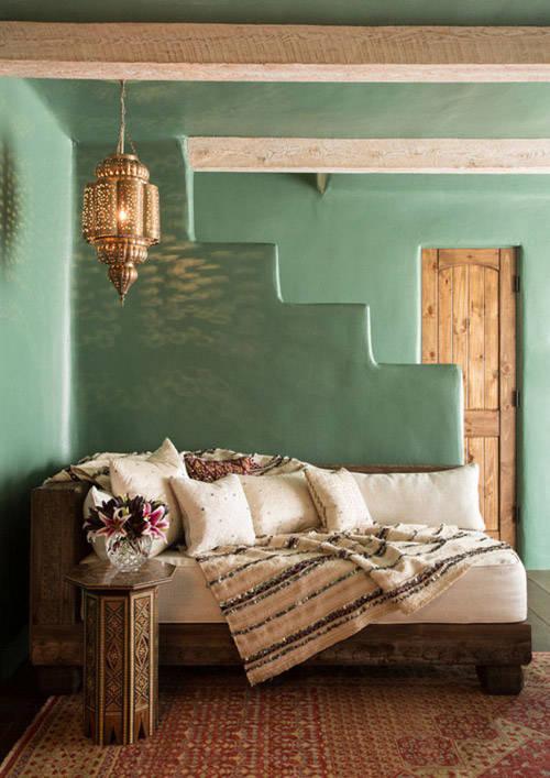 Interior de una casa marroquí