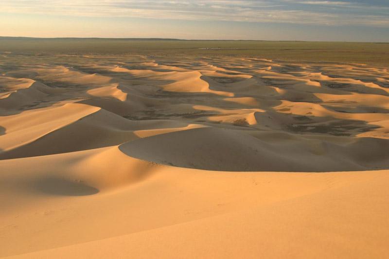 Dunas en el desierto del Gobi