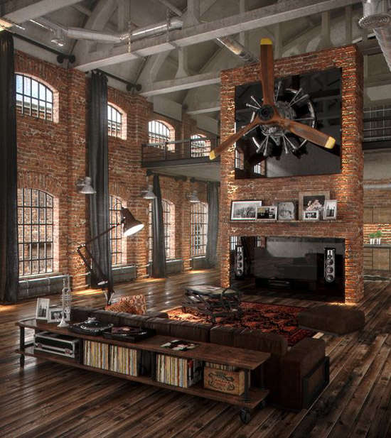 Decoraci n industrial los mejores lofts nomadbubbles for Decoracion estilo industrial