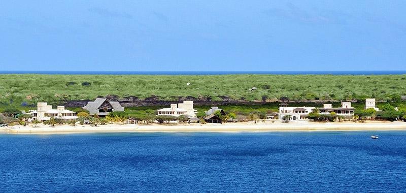 La costa de Lamu en Kenia