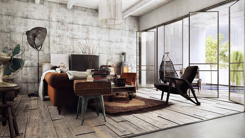 Loft industrial y vintage