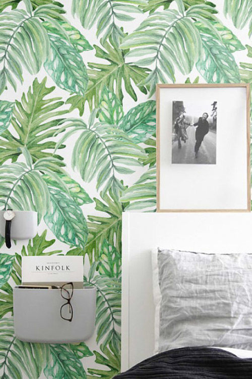 Papel pintado tropical