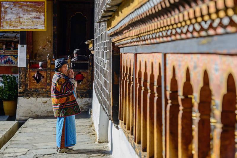 Monje en Bután