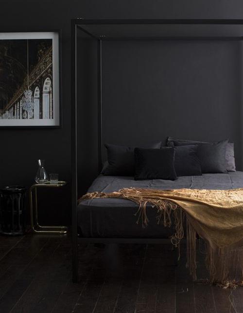 el color negro en la decoración