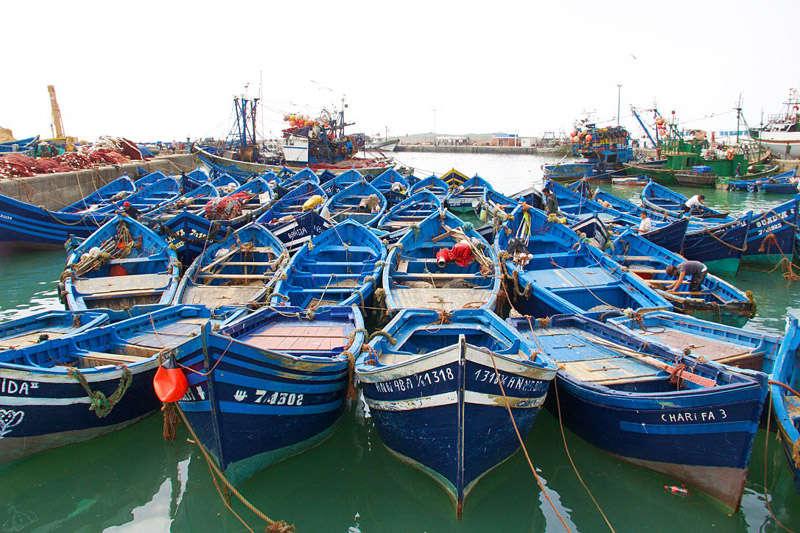 Puerto de Essaouira, Marruecos