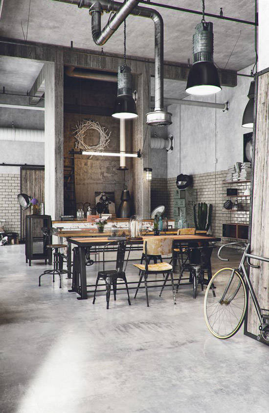 Decoraci n industrial los lofts m s espectaculares - Salon estilo industrial ...