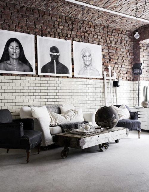 Muebles vintage en la decoración industrial