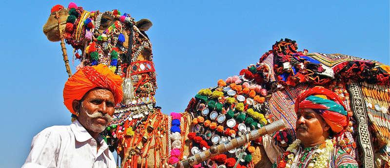 La feria de camellos en Pushkar