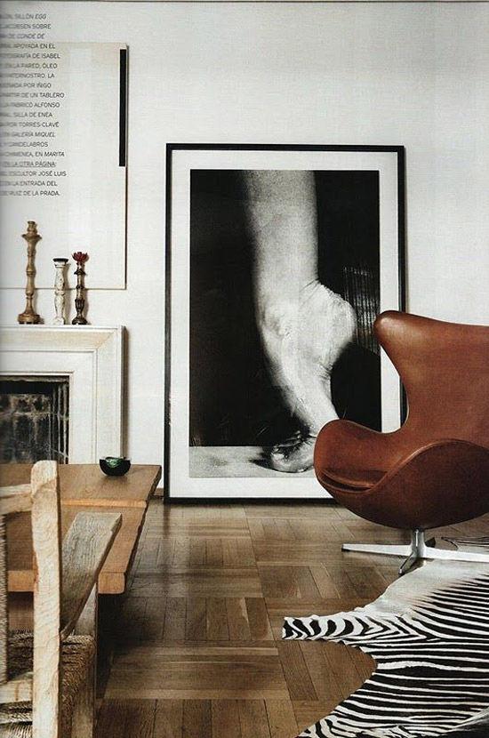 La silla huevo en la decoración de interiores