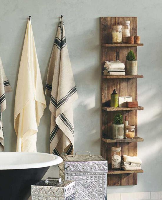 Estanteria de madera de palet para el baño