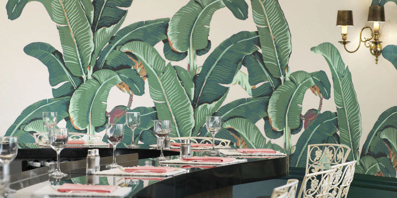 Papel pintado vintage tropical