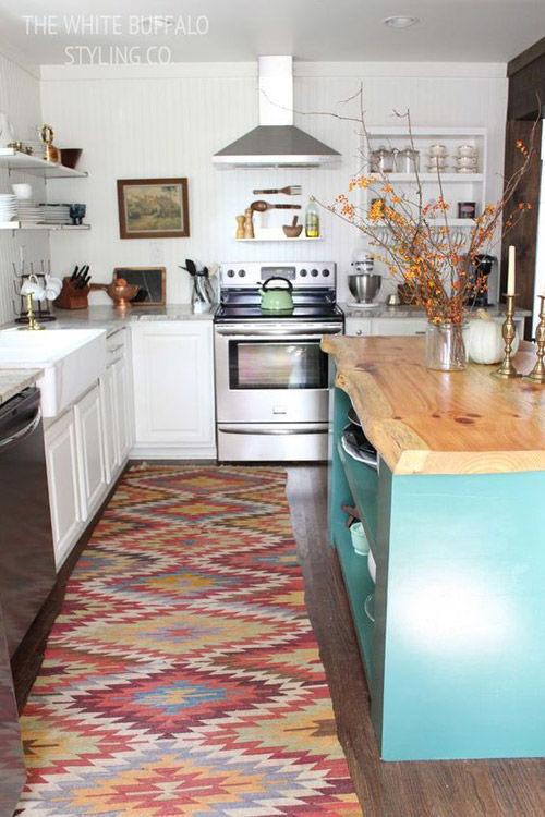 Kilims en la decoración de la cocina