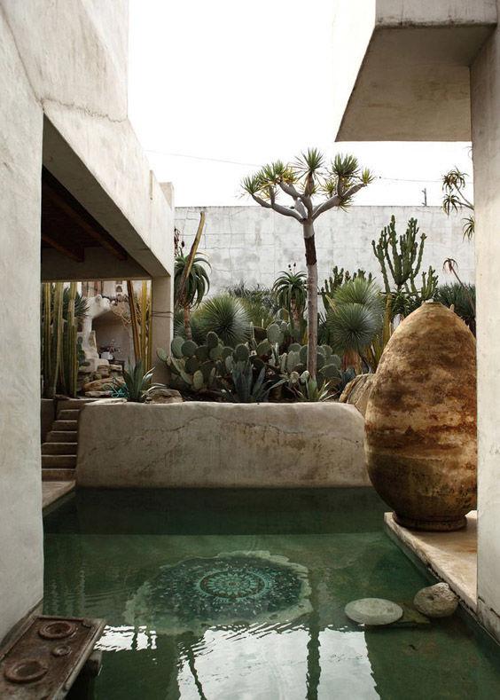 Decoraci n con cactus y suculentas ideas para decorar - Jardines pequenos con encanto ...