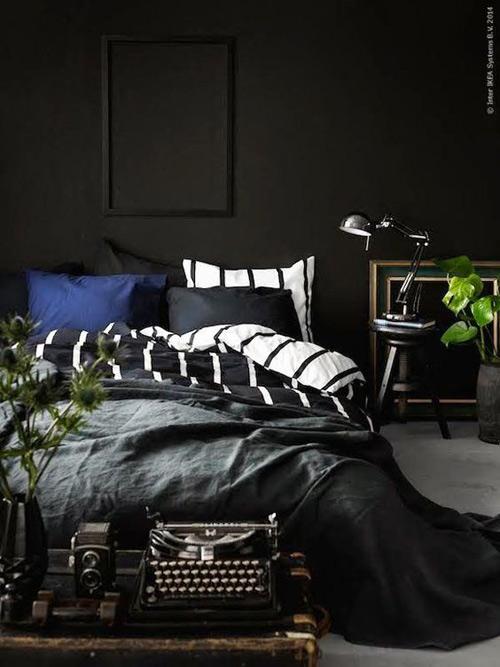 tonos oscuros para decorar habitaciones