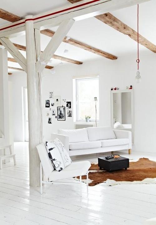espacios abiertos y diafanos en los salones de estilo nórdico