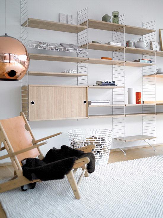 La estantería String en la decoración