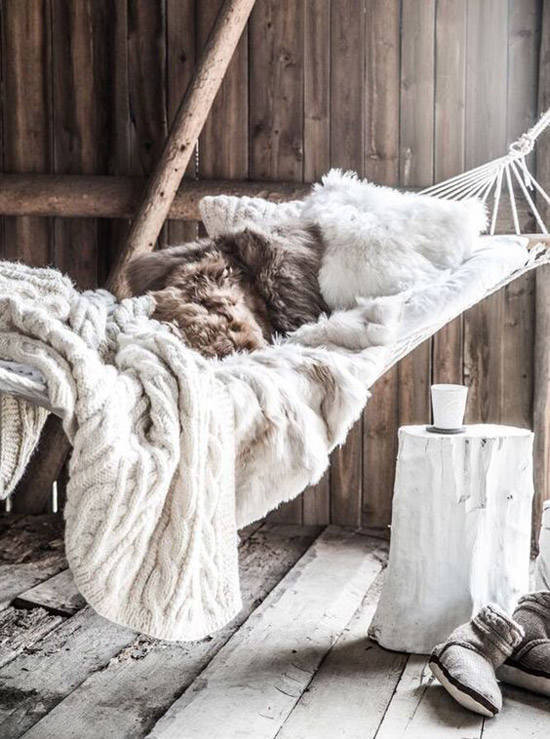 Textiles cálidos en la decoración de estilo nórdico