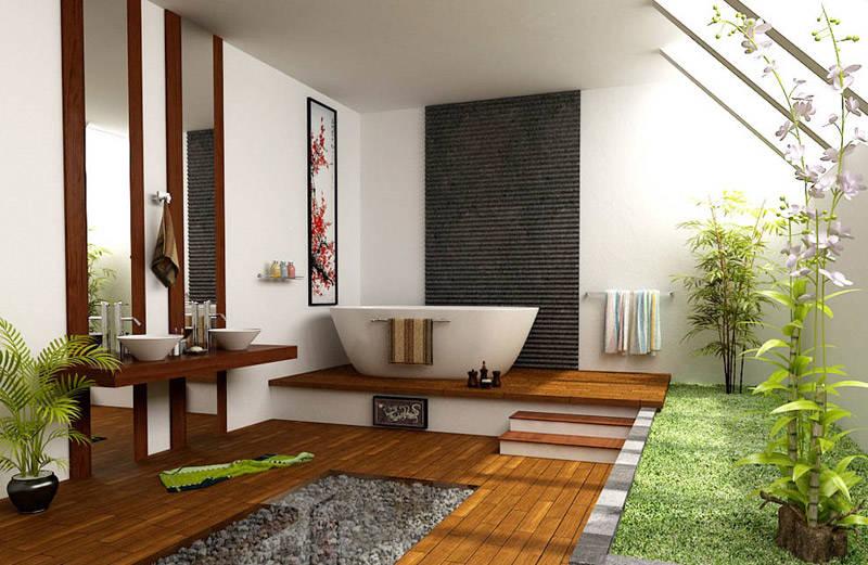 armonía en una casa decorada al estilo zen