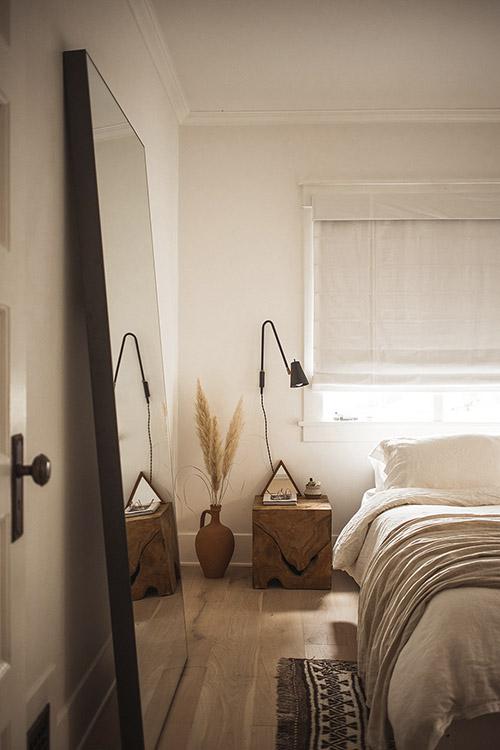 dormitorio de estilo natural
