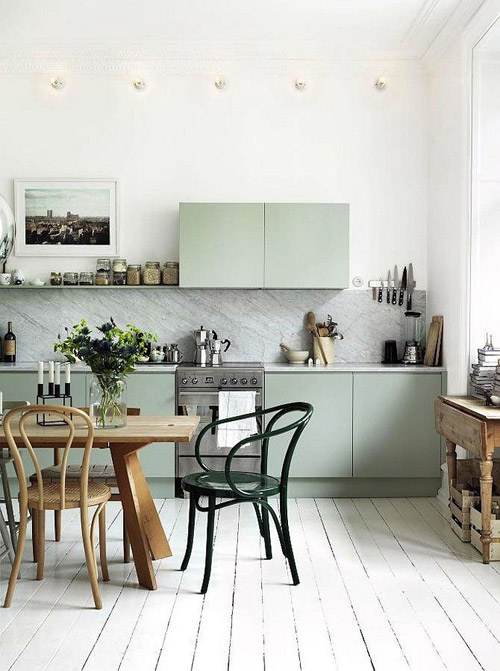 colores en una cocina nórdica