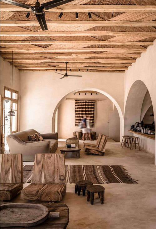 interiores pintados en tonos cálidos