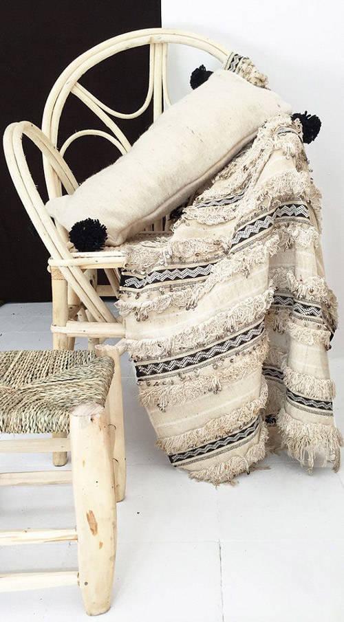 mantas y cojines handiras