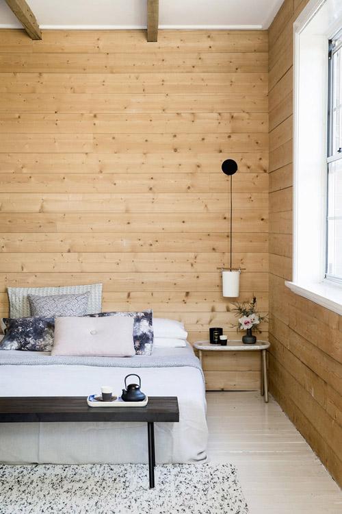 madera y texturas en los interiores japandi