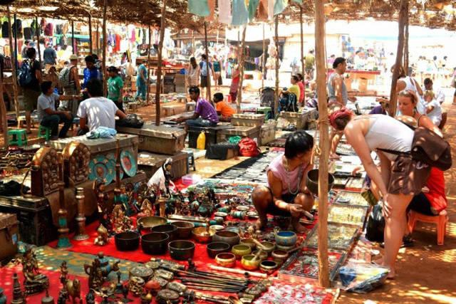 Mercadillo de Goa en la India
