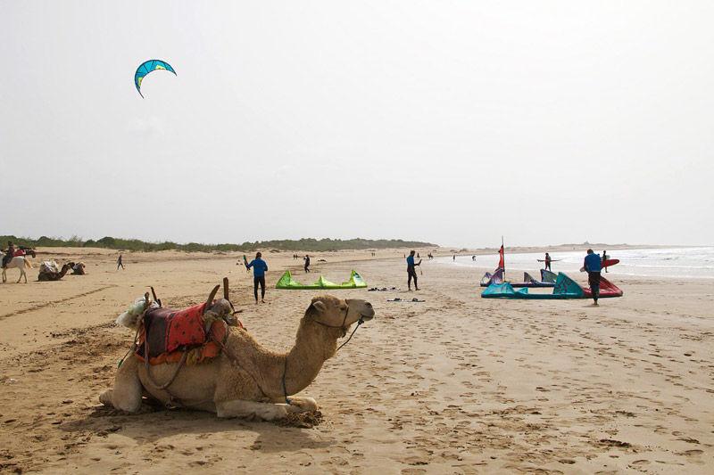 Kitesurf en las playas de Essaouira en Marruecos