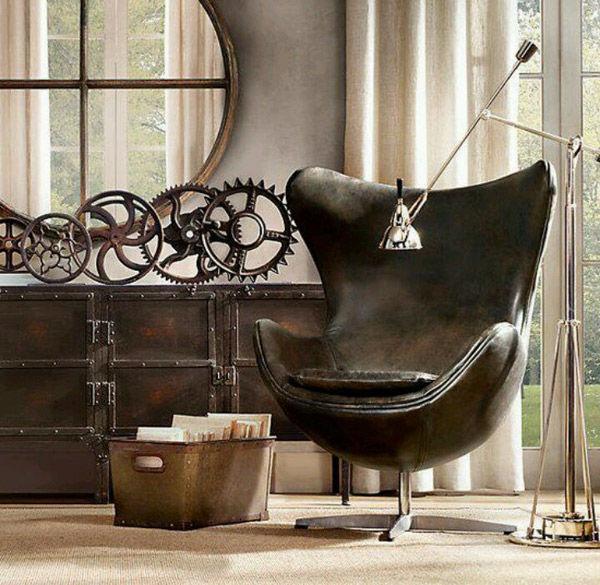La silla Egg en la decoración de estilo industrial