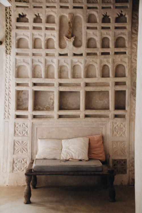 Interior en una casa en Lamu