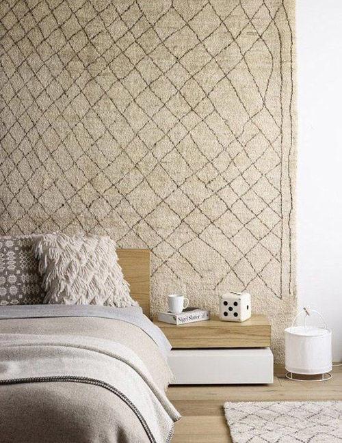 Decoración de paredes con alfombras