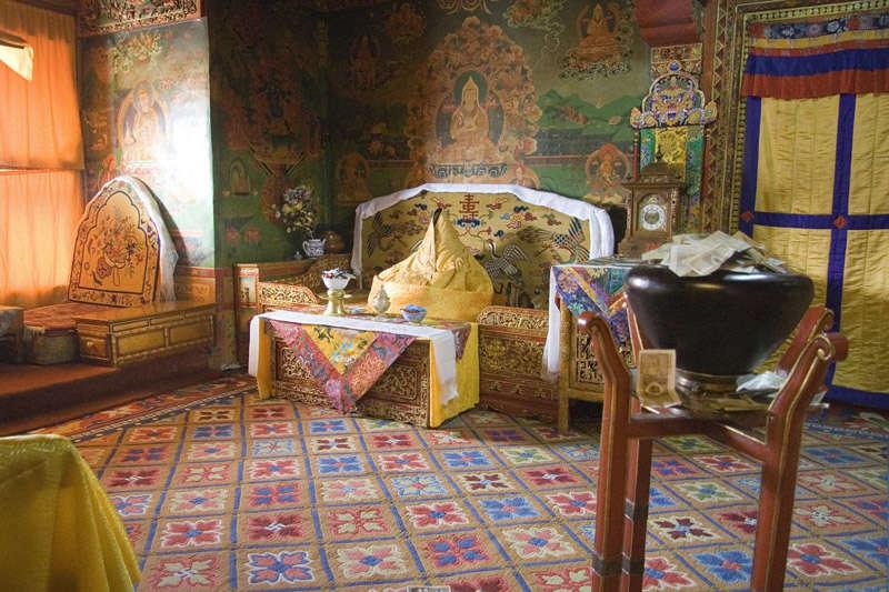 El cuarto privado del Dalai Lama en el Palacio de Potala