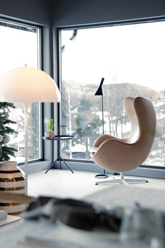 La Egg Chair en la decoración nórdica