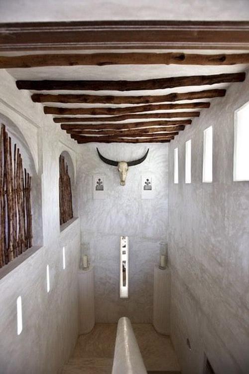 Galería en una casa de Lamu