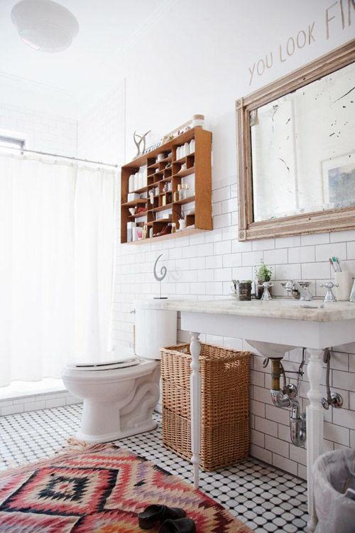 El Kilim en la decoración de baños