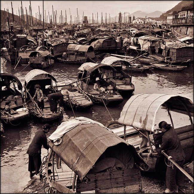 El mercado flotante de Aberdeen en el siglo XIX