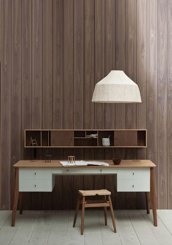 Mueble de madera de estilo nórdico