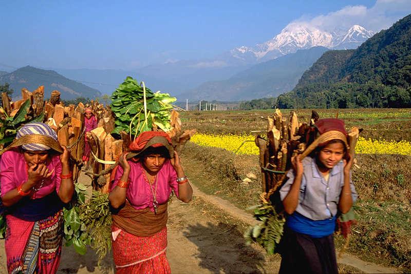 Mujeres en Pokhara